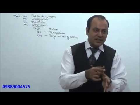 Income Tax : AY 15-16 : Salary : Lecture 1
