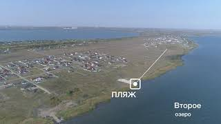 Коттеджный поселок 'Солнечный берег', панорама, вид сверху