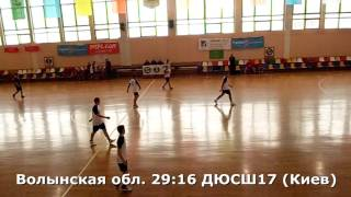 Гандбол. ДЮСШ 17 (Киев) - Волынская обл. - 26:37 (2-й тайм). Детская лига, г. Бровары, 2002 г. р.