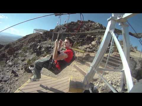 Zip Lining in Bootleg Canyon