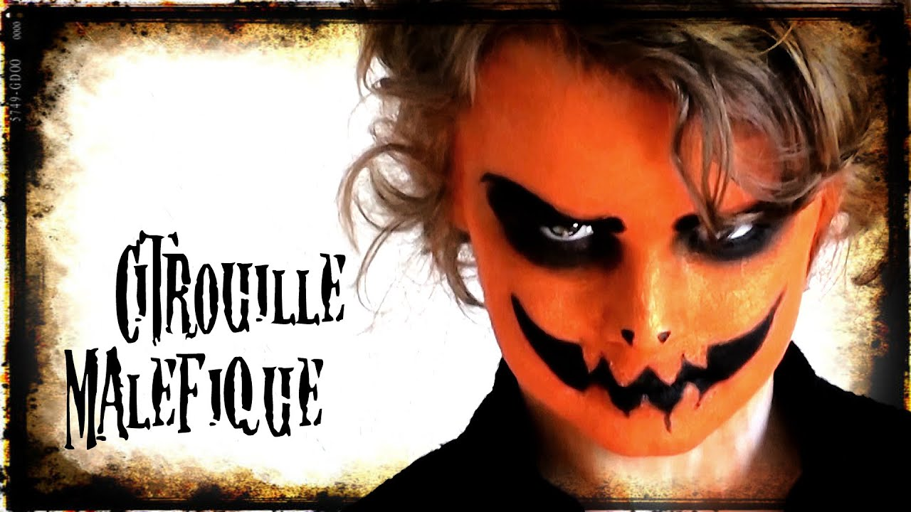 Halloween make up citrouille mal fique youtube - Maquillage citrouille facile ...