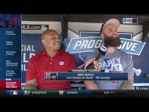 Former Cleveland Indians slugger Mike Napoli reveals who he called after home runs last year