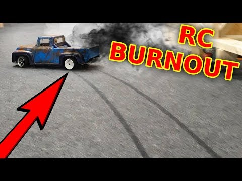 RC Truck Destroys My Carpet - BURNOUT
