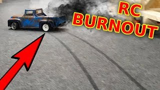 RC Truck Destroys my Carpet - BURNOUT