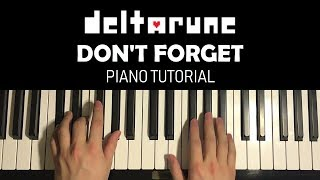 Deltarune Don 39 t Forget Piano Tutorial Lesson.mp3