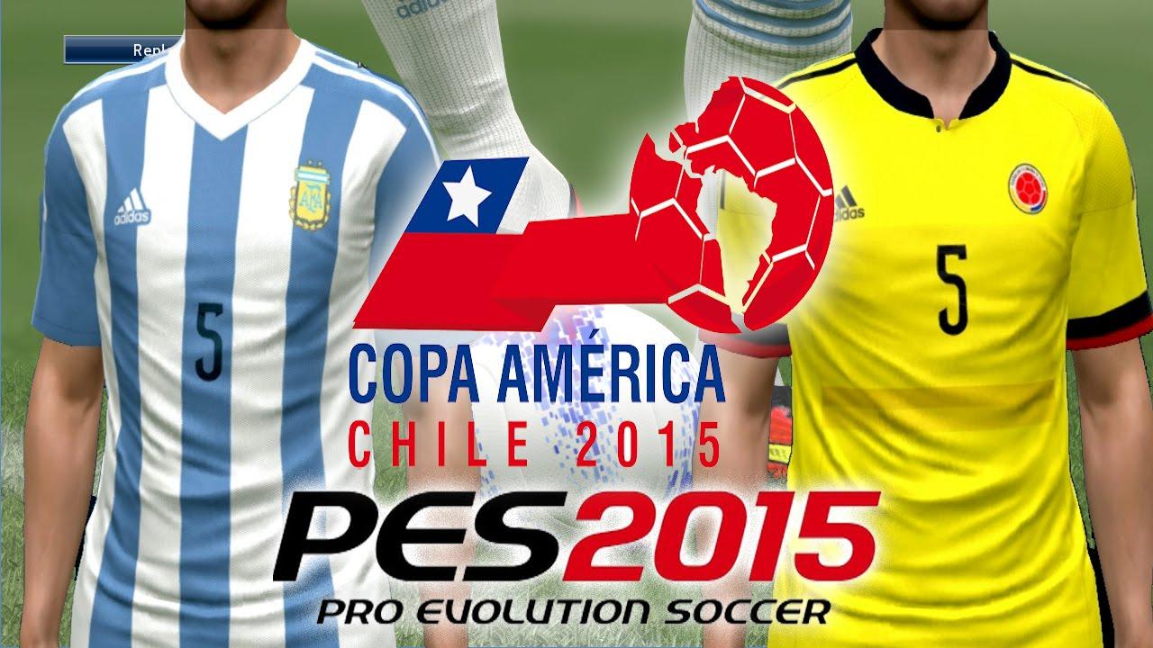 71121c8bc PES 2015 NUEVAS CAMISAS Copa America 2015  ARGENTINA y COLOMBIA para PC -  YouTube