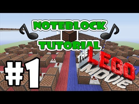 """The LEGO Movie Everything Is Awesome! - Note Block """"Tutorial"""" Part 1 (Minecraft Xbox/Ps3)"""