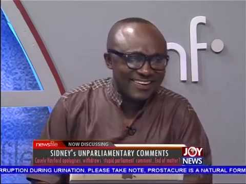 Sidney's Unparliamentary Comments - Newsfile on JoyNews (15-7-17)