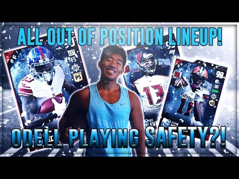 "ALL OOP ""OUT OF POSITION"" LINEUP! ODELL BECKHAM JR PLAYS SAFETY! MADDEN 17 ULTIMATE TEAM"