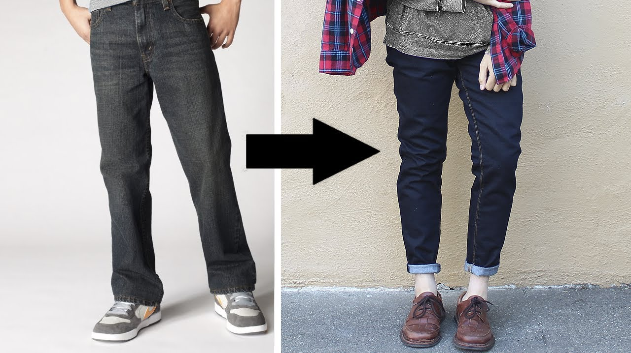 Loose jeans to skinny jeans