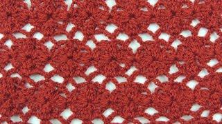 Repeat youtube video Crochet: Punto Enrejado con Flor # 2