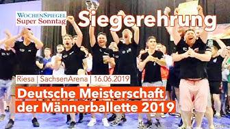 DM Männerballette 2019 Riesa - Siegerehrung
