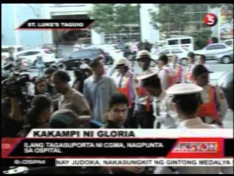 Lobby ng St Luke's Global Nabalot sa Tensyon, Ilang taga-suporta ni CGMA Nagpunta sa Ospital