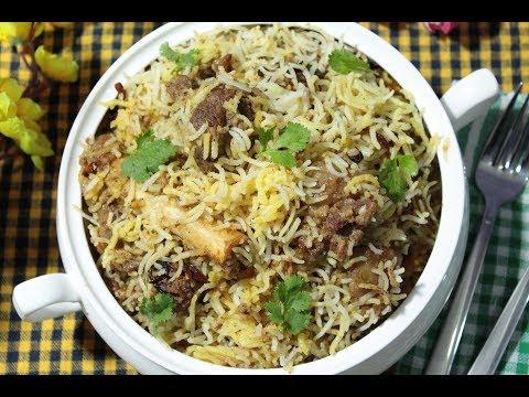 Mutton Biryani Kolkata Style - Step By Step Mutton Dum Biryani Recipe