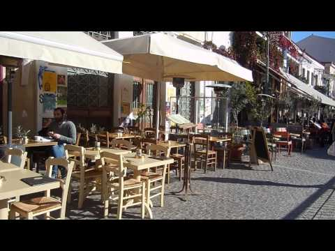 As you can walk in the Athens city in Greece HD