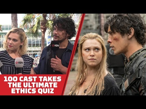 The 100's Eliza Taylor and Bob Morley Take The Ultimate Ethics Quiz  Comic Con 2018