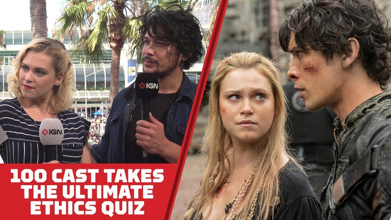 The 100's Eliza Taylor and Bob Morley Take The Ultimate Ethics Quiz - Comic Con 2018