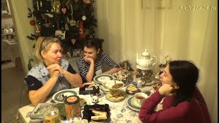 Вкусности народов мира, идея с Ёлкой, возгорание, за вечерним чаем с Алёнкой и Сарьяной