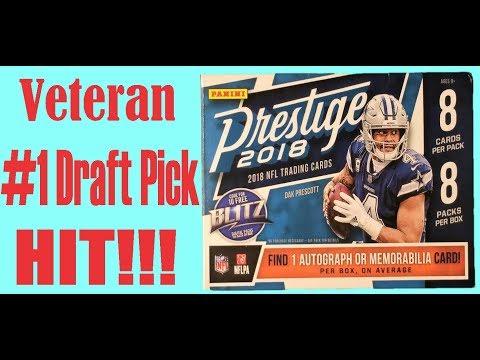 2018 Panini Prestige NFL Football trading cards. 1 autograph or memorabilia  per box. 72fda7b24