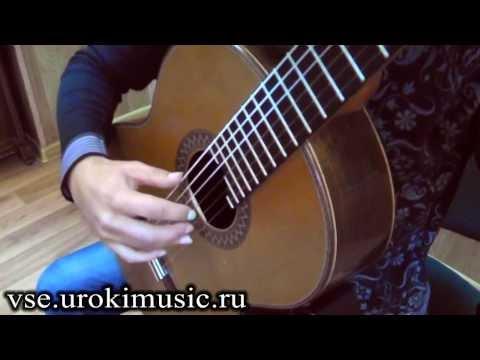 Уроки игры на гитаре для начинающих.Урок 1