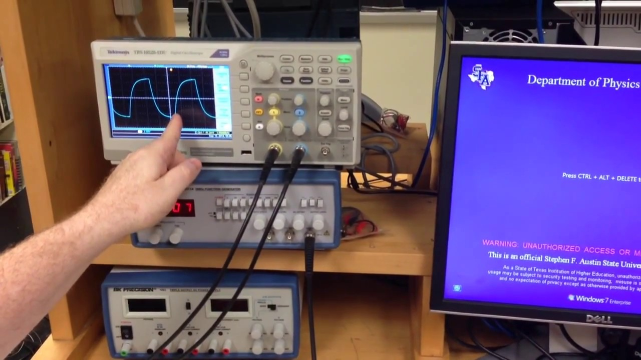 Lab 3 Transients Part B Capacitor And Resistor Circuit Youtube Activebandrejectfilter Filtercircuit Basiccircuit