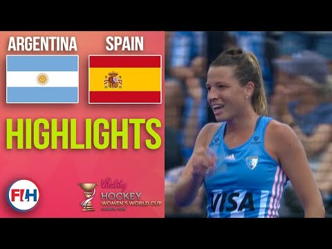 Argentina v Spain   2018 Women's World Cup   HIGHLIGHTS