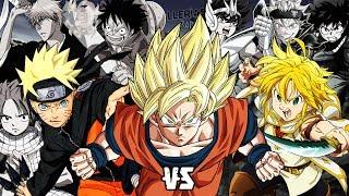 Generaciones del Anime || MACRO BATALLA DE RAP || Kballero ft.Keyto & Más || (Prod.HollywoodLegends)