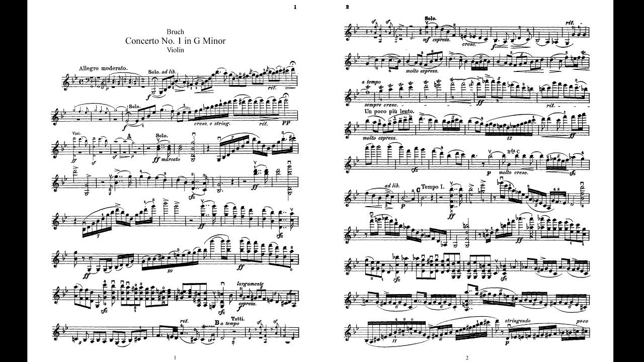Bruch Violin Concerto No. 1 in G Minor, 1st movement