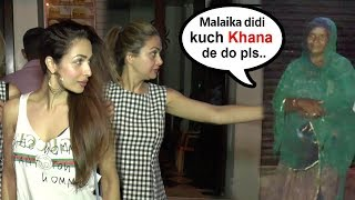 Beggar Asks For Food From Salman Khan's Bhabhi Malaika Arora ..What Happens Next Will Melt Ur Heart