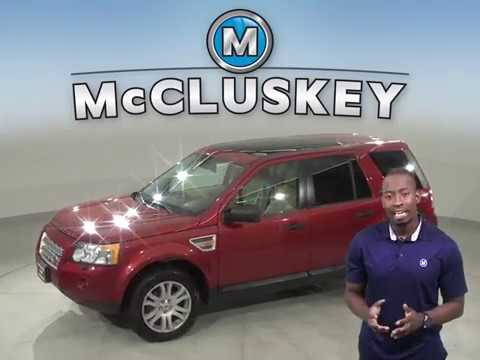 G13792FP Used 2008 Land Rover LR2 SE 4WD Red Suv Test Drive, Review, For Sale -