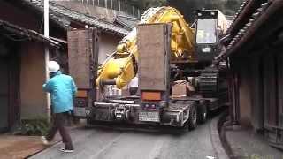 日本に2台しかない16輪ステアリング装置付トレーラーを操る神業師 thumbnail