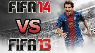 FIFA 14 VS FIFA 13 Split Screen Gameplay Comparison HD