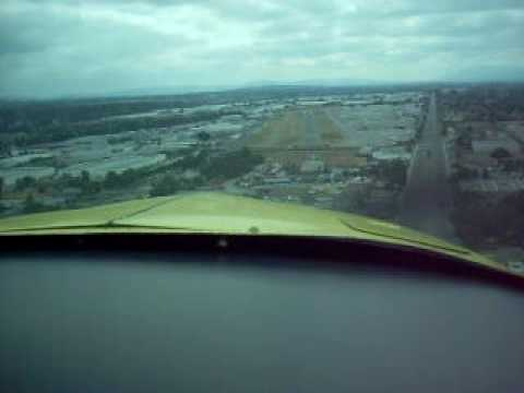 Grumman AA1 Landing Fullerton Airport Rwy6