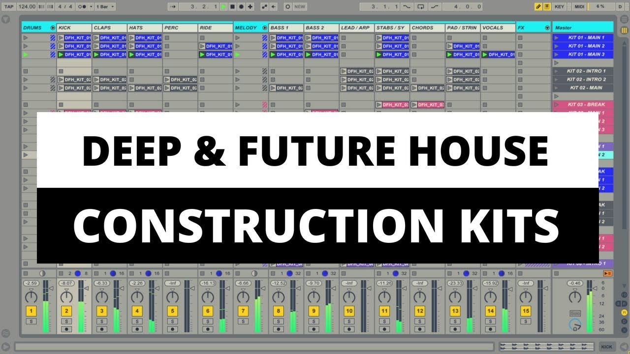 Deep future house pack 10 construction kits midi for House music midi