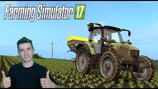 Farming Simulator 17 W pogoni za kasą #18 Nawozy na burak posypane i Dziwny początek :D :D