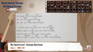 My Sweet Lord - George Harrison Bass Backing Track with scale, chords and lyrics