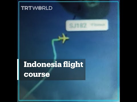 Plane disappears in Indonesia