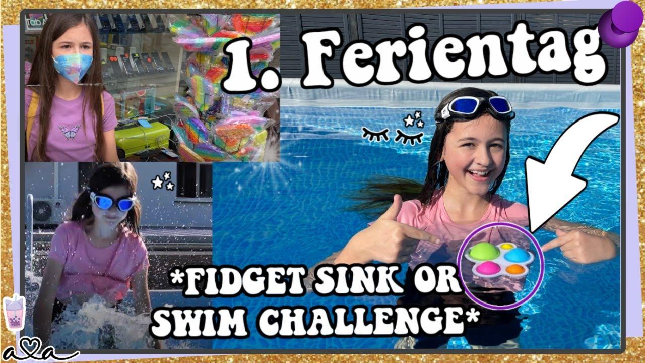 Fidget Sink or Swim Challenge an meinem 1. Ferientag! Wir shoppen für Pokemon & schwimmen im Pool