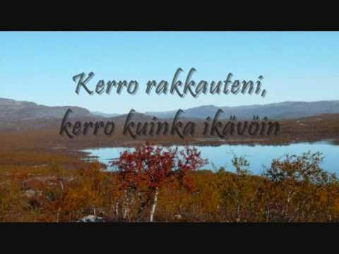 Jenni Vartiainen - Missä muruseni on (finnish and english lyrics)