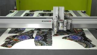 Cutting digitally printed fabrics with Zünd