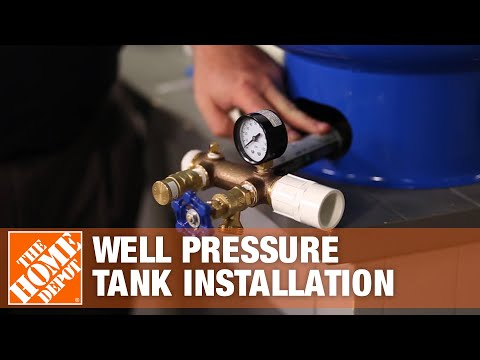 Well Pressure Tank Installation The