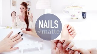 TUTORIAL: 3 Nagel-Looks (matte, shiny, french) #essiestories