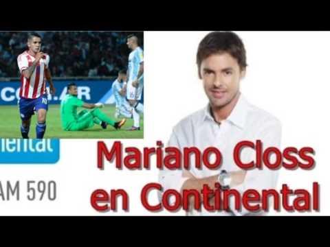 "Mariano Closs dura crítica con derrota Argentina frente Paraguay: ""Limpieza ya"" - 12 de Octubre 2016"