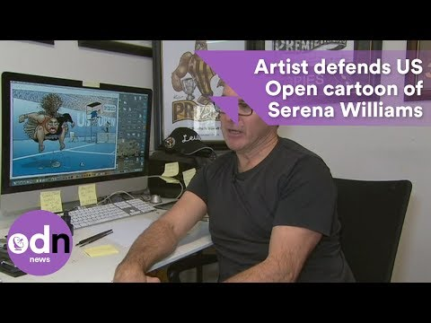 Artist defends US Open cartoon of Serena Williams