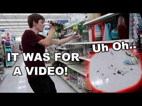 BROKE A VASE AT WALMART!! (Behind The Scenes)
