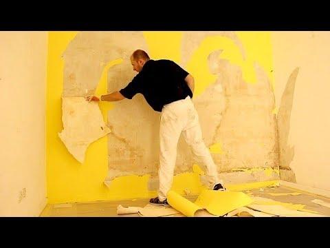 r nover un mur retirer ancienne toile de verre cloqu 1. Black Bedroom Furniture Sets. Home Design Ideas