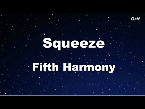 Squeeze - Fifth Harmony Karaoke 【With Guide Melody】 Instrumental
