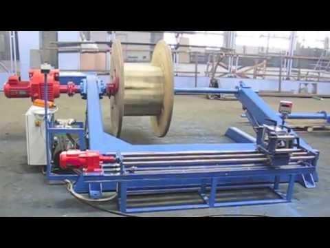 видео: Станок (устройство) для перемотки (отмотки) кабеля, провода, троса, каната УПК-25-7ПРГС с АКУ-1400