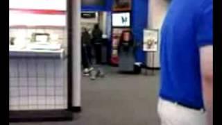 Woman drags kid through Verizon Store