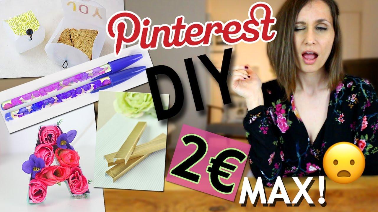 Extrêmement DIY ┋ PINTEREST A 2 € MAX AVEC PRESQUE RIEN !! TEST & ASTUCE  XW99